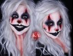 Creepy Clown Halloween Makeup w/ Tutorial by KatieAlves