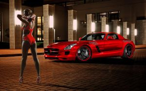 Gemma Red Benz by magXlander