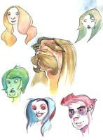 Cartoon Heads by red---sonja
