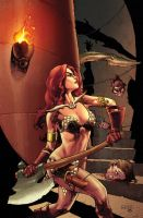 Deviation 55-Red Sonja by FrankDa