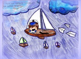 sailboats and paper planes by kiwi24
