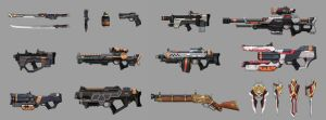 Some weapon designs(Mostly SF guns) by bailknight
