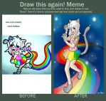 Draw this again meme: Nyan Ryou Edition by taytaym2