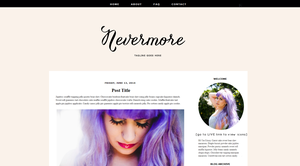 Nevermore Blogger Template by candypow