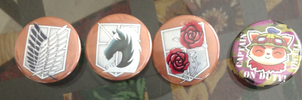 Shingeki + Teemo Buttons by AzureStarr