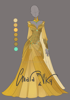 :: Adoptable Gold Outfit: AUCTION CLOSED :: by VioletKy