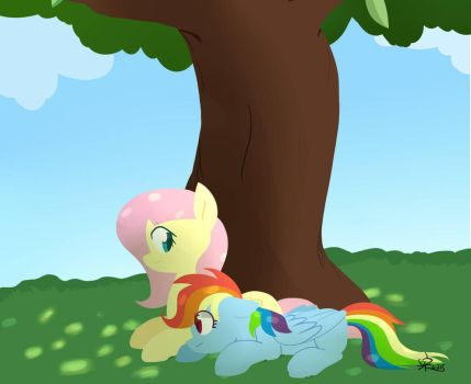 Under the tree by Yaaaco17