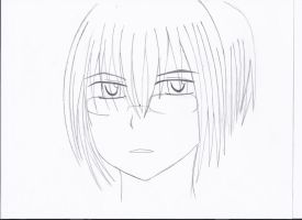 anime guy with glasses drawing sketch coloring page