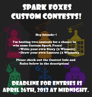 Spark Fox Custom CONTESTS! Winners Announced! by iMandarr