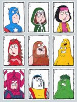 Family Guy Sketch Cards D by ElainePerna