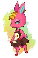 Animal Crossing -- Fuschia by onisuu