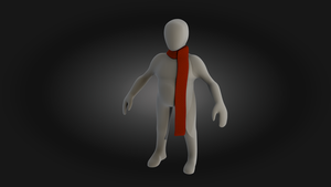 Simple Character with Scarf by artislight