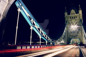 London Tower Bridge at Night by TheLovingKind89