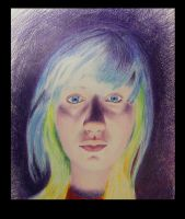 Blue Eyes Color Drawing(completed) by Joshua-Mozes