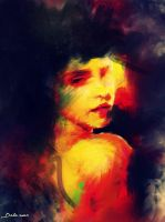 A face from the sun by Delawer-Omar