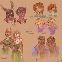 characters from Redwall are  humen by WinstonOffbeat1
