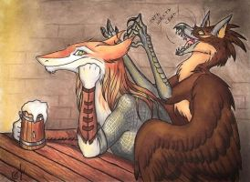 In the pub by Chickenzaur