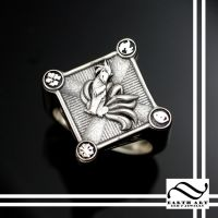 Custom Ninetails Pokemon Signet ring by mooredesign13