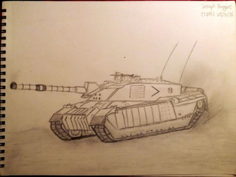 Challenger 2 Sketch by Tank-Dragon2014