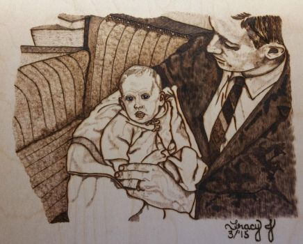 Baby Tracy and Dad by TracyJDesigns