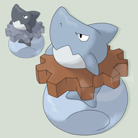Fakemon Sharkral by mssingno