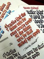 Practice Isn't The Thing You Do Once you're good by calligraphymasters