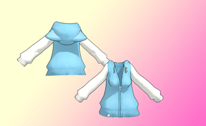 Kitty Jacket with hood down -UPDATED- by amiamy111