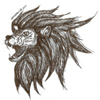 Pen Speed Sketch Lion by AerysSketches