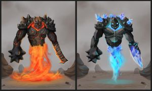 Elemental Golem Variations by OH-EREN