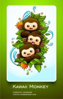 Kawaii Monkey Wallpaper Pack by chicho21net