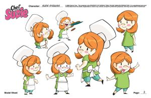 Suzie Model Sheet Page Two by PolishTamales