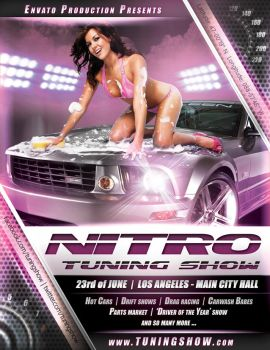 Nitro Tuning Show flyer version 1 PSD by naranch