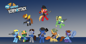 My Little ScrewAttack TF2 BLU by Sonic-chaos