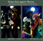 Before and After Meme: City Cats by StarLynxWish
