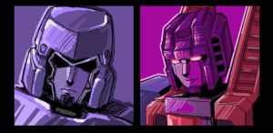 Megatron and Starscream by f19850928
