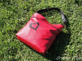 Red Heart Bag by MaxOKryn