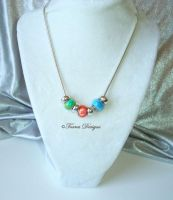Nayru Farore Din Pearls Necklace Zelda WW Custom 3 by TorresDesigns