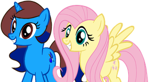me and Fluttershy by evemetalchick