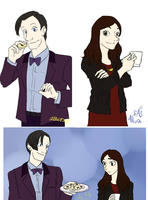 Doctor Who tea and bisquits by TheArtgrrl