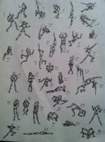 36 Poses (setche) by Crossoverdude