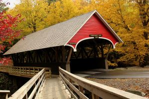 Covered Bridge at Franconia Notch State Park. by sweatangel