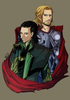 thor and loki by arisuhideki