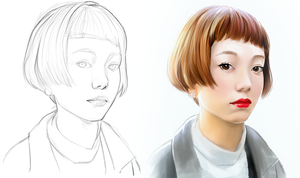 Face study 02 by hel999