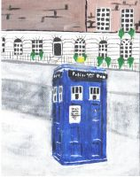 TARDIS Acrylic by AnAddictWithAPen