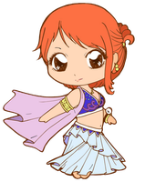 One Piece _ cute Nami by Fire-wing-96