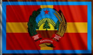 Fraztovia National Flag (Communist) by Fraztov