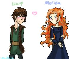 Hiccup X Merida by HezuNeutral