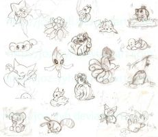 Pokemon Sketch Dump by Joz-yyh