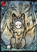 Three Tails [ACEO] by TeaKitsune
