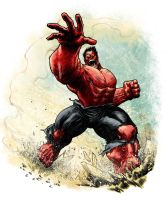 Red Hulk Commission - Colored by elena-casagrande